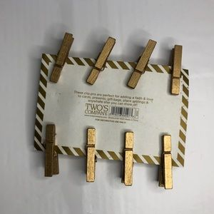 Two's Company Other - My Little Angel Gold Mini Clothespins Clip Ons